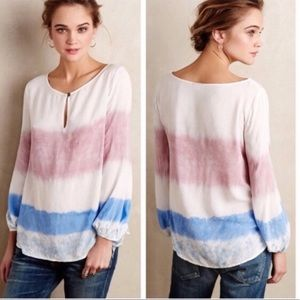 NEW Anthropologie Holding Horses Dip Dye Blouse M